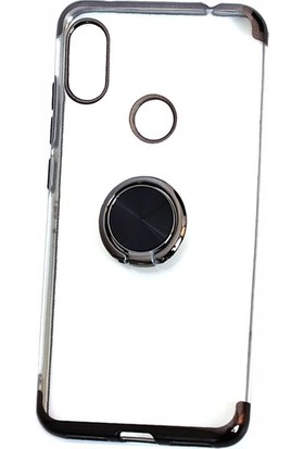 Casestore Huawei P Smart 2019 Kılıf Yüzüklü Mıknatıslı Standlı Lazer Kaplama Kılıf + Nano Ekran Koruyucu