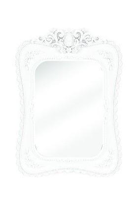 Çelik Ayna Dekoratif Dantel Kristal Ayna