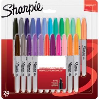 Sharpie Fine Permanent Markör, Ince Uç, Karışık Renkler, 24'Lü Blister