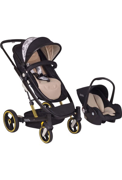 Kraft Leon Travel Sistem Bebek Arabası - Siyah