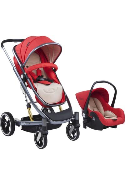 Kraft Leon Travel Sistem Bebek Arabası - Kırmızı