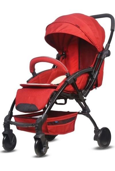 Babyhope Lavida Çift Yönlü Bebek Arabası Kırmızı