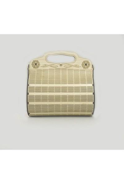 TrendBox Kişiye Özel İsim Yazılı Ahşap Bayan Çantası Model V17