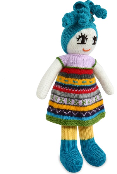 Amigurimi Atölyesi Renkli Elbiseli Kız Bebek Amigurumi