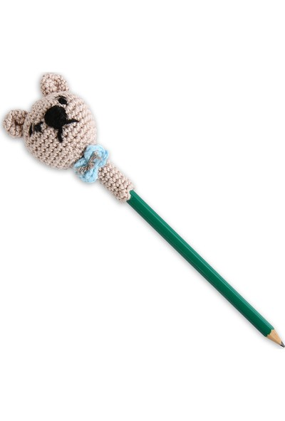 Amigurumi Atölyesi Kalem Başlığı Ayıcık Amigurumi