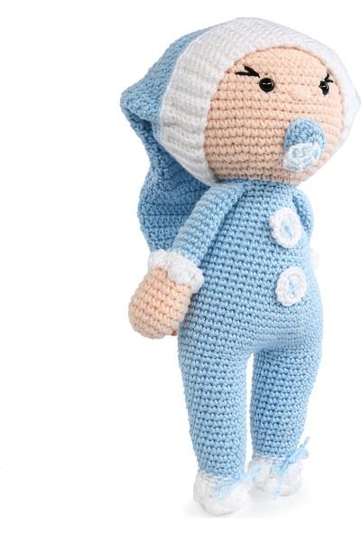 Amigurumi Atölyesi Mavi Emzikli Bebek Amigurumi