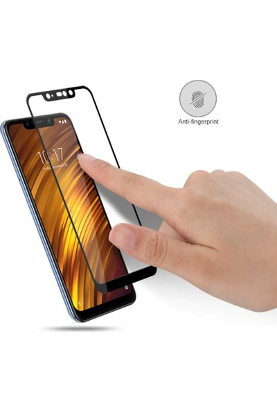 Melikzade Xiaomi Pocophone F1 Tam Kaplayan 5D Ekran Koruyucu Cam