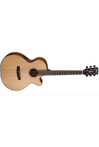 Cort Elektro Akustik Gitar, Natürel Satin, Ladin Kapak,
