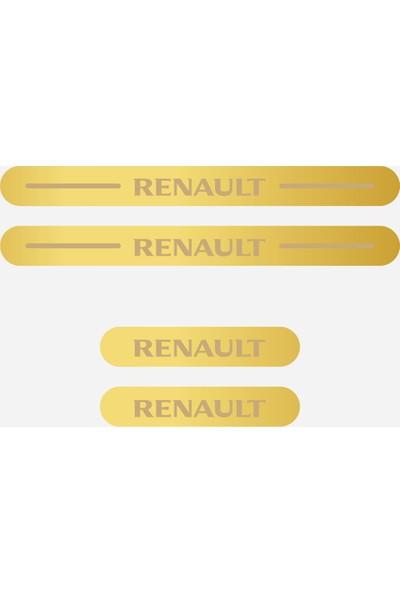 Appcity Renault Işıksız Pleksi Kapı Eşiği (Gold Ayna)