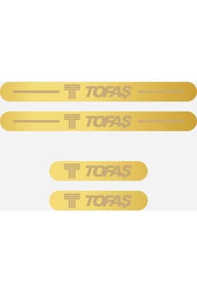 Appcity Tofaş Işıksız Pleksi Kapı Eşiği (Gold Ayna)
