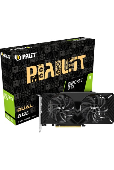 Palit Nvidia GeForce GTX1660 Ti Dual 6GB 192Bit GDDR6 DX(12) PCI-E 3.0 Ekran Kartı (NE6166T018J9-1160A)