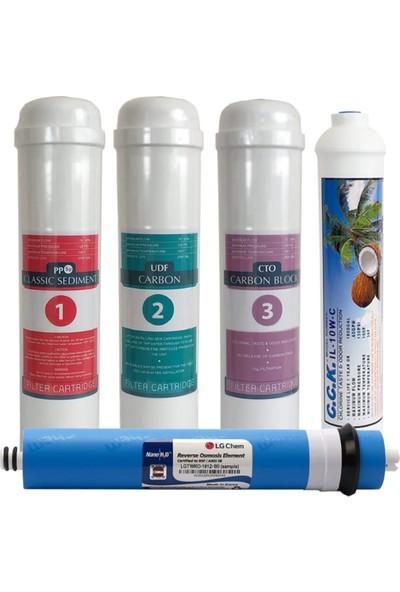 Cleanwater İnline Filtre Seti 5 Aşamalı Lg Membranlı
