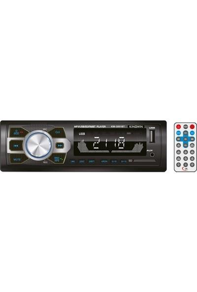 Kingwin Kw-3001Bt Universal Oto Teyp Bt/Usb/Sd/Fm