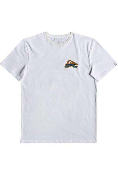 Quiksilver Tatteredss M Tees Beyaz Erkek T-Shirt