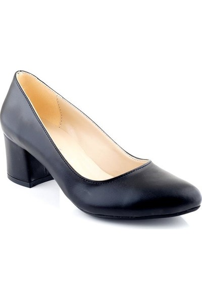 AyakkabıTarzım Siyah Mat Kadın Topuklu Ayakkabı ALCK00538
