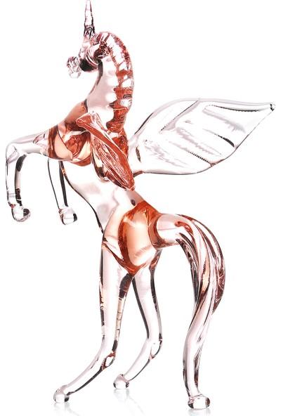 1200 Derece Alicorn Kanatlı At Cam Biblo