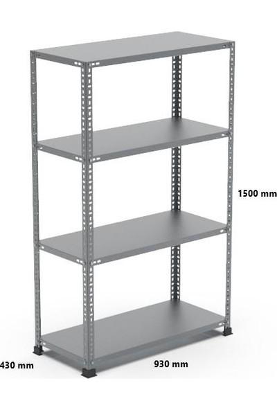 Rafçızade Çelik Raf 43 x 93 1.5 mt Yükseklik 4 Katlı