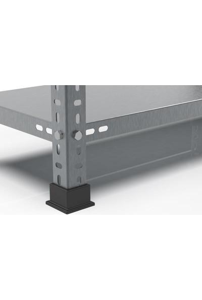 Rafçızade Çelik Raf 43 x 93 2 mt Yükseklik 4 Katlı 2 Ünite