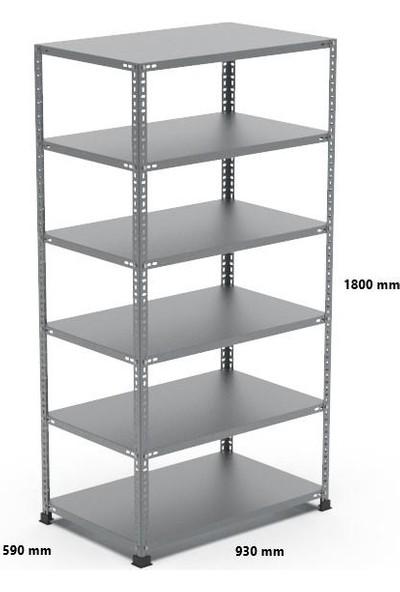 Rafçızade Çelik Raf 59 x 93 1.8 mt Yükseklik 6 Katlı