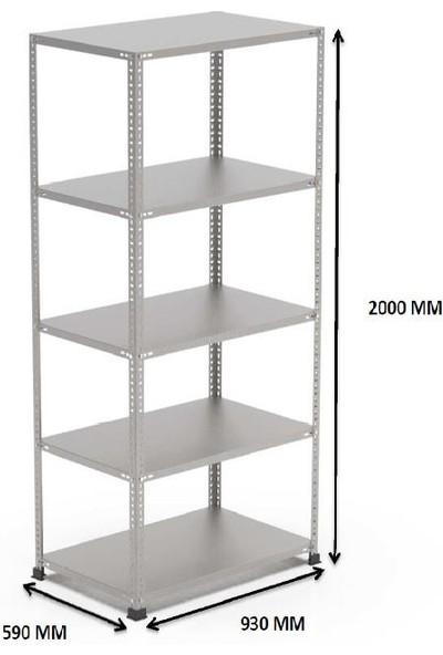 Rafçızade Çelik Raf 59 x 93 2 mt Yükseklik 5 Katlı