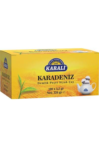 Karali Karadeniz Demlik Poşet Siyah Çay 100x3,2 gr