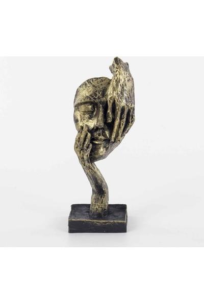 Piyop Görmedim Figürlü Mask Biblo Dore 11 x 7 x 27 cm