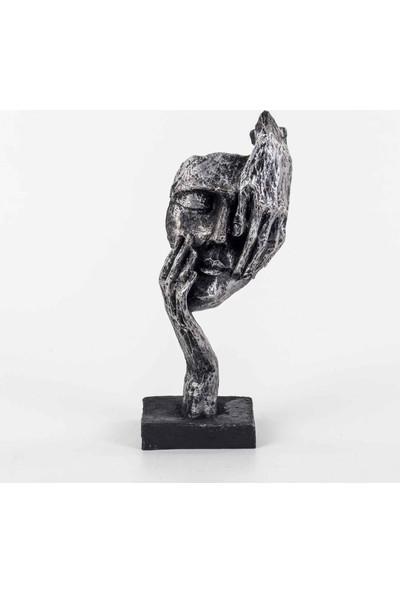 Piyop Görmedim Figürlü Mask Biblo Lame 11 x 7 x 27 cm