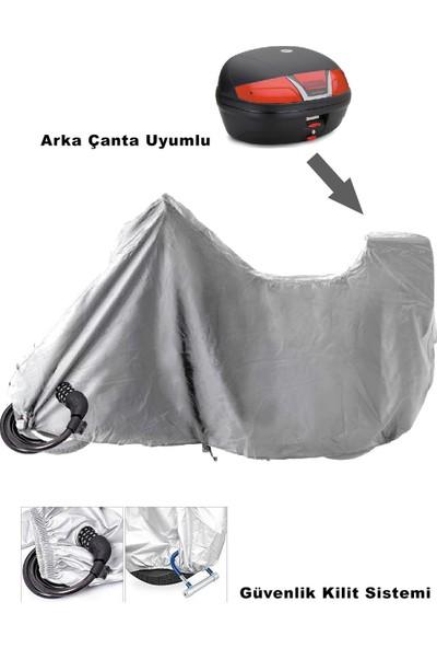 Kaliteplus Arora Ar 100 8A Tel Jant 2018 Model Arka Çanta Uyumlu TopCase Motosiklet Branda