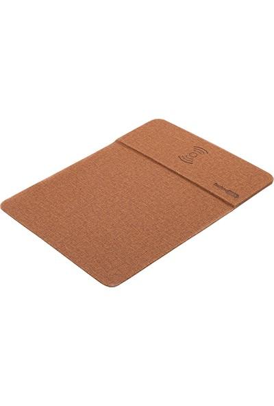 Mas Wireless Mouse Pad Kahve 6614