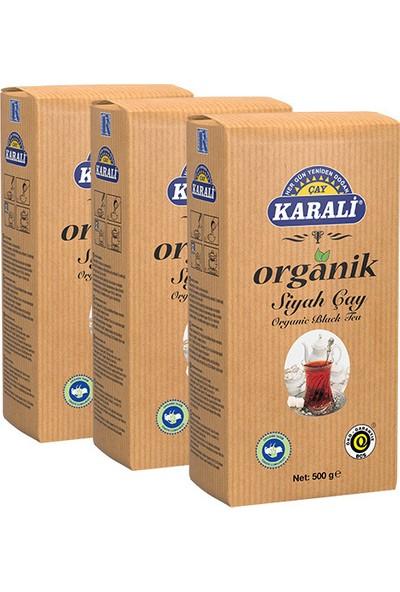 Karali Organik Siyah Çay 500 gr - 3'lü Set