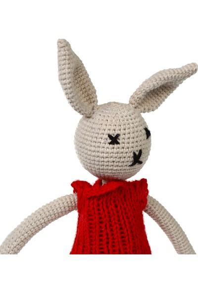 Yakın Doğa Amigurumi Kırmızı Kazaklı Tavşan