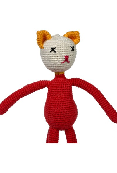 Yakın Doğa Amigurumi Sarı Kulaklı Kedicik