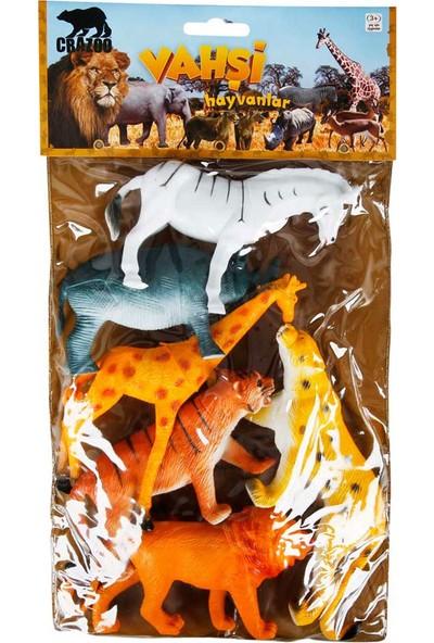 Crazoo Vahşi Hayvanlar Büyük Poşet 6lı S00000715
