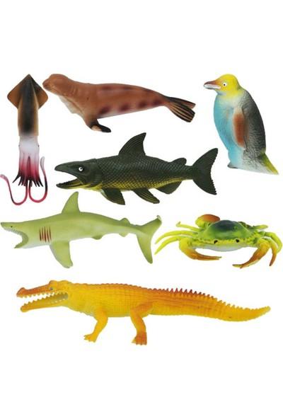 Crazoo Okyanus Hayvanları Büyük Poşet 7li S01000713