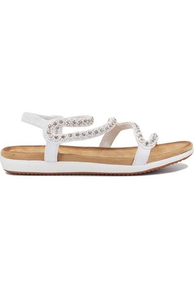 Eşle 9Y-153 Kadın Sandalet Beyaz