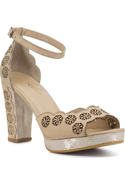 Eşle 9Y-6231 Kadın Topuklu Ayakkabı Bej