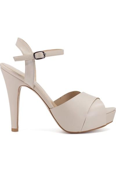 Eşle 9Y-PS1 Kadın Abiye Ayakkabı Bej