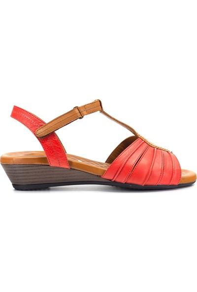 Eşle 9Y-1006 Kadın Sandalet Kırmızı