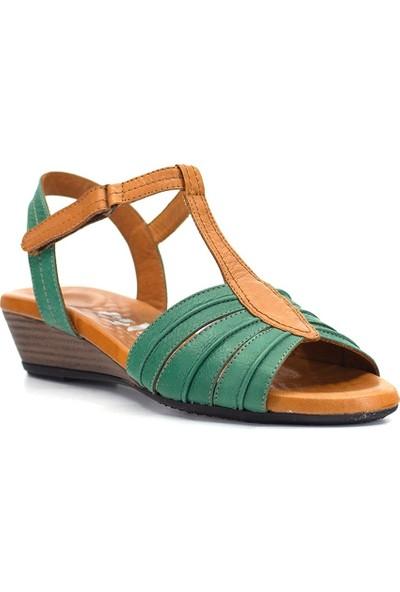 Eşle 9Y-1006 Kadın Sandalet Yeşil