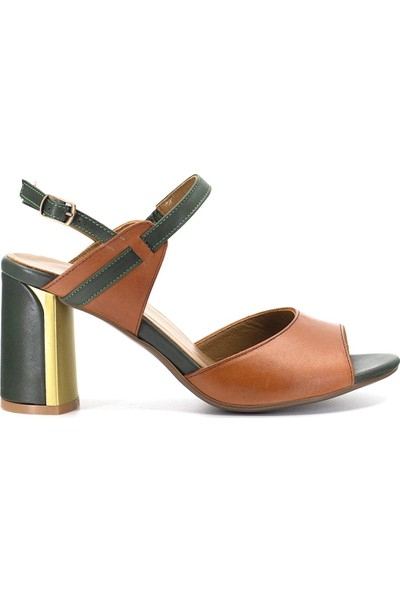 Eşle 9Y-6106 Kadın Abiye Ayakkabı Taba