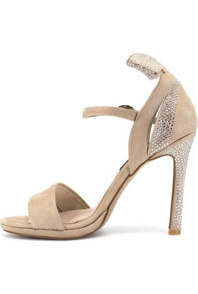 Eşle 9Y-328910 Kadın Topuklu Ayakkabı Bej