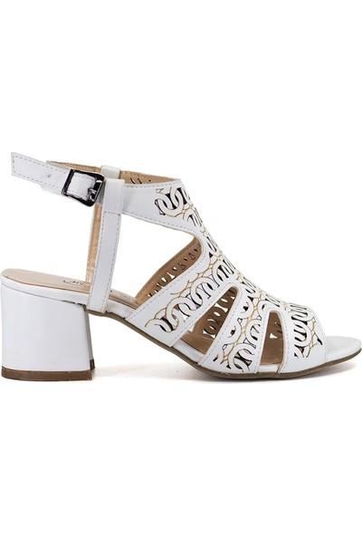 Eşle 9Y-9002 Kadın Sandalet Beyaz