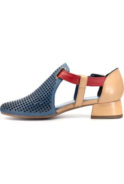 Eşle 9Y-6400 Kadın Topuklu Ayakkabı Mavi