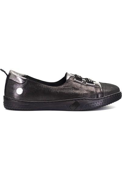 Mammamia D19YA-4540 Kadın Günlük Ayakkabı Platin