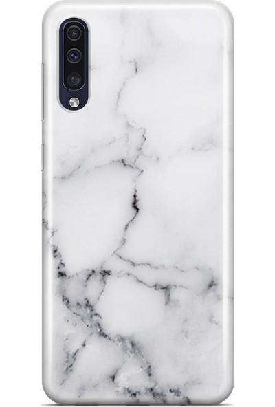 Melefoni Samsung Galaxy A50 Marble Mermer Beyaz Desenli Kılıf