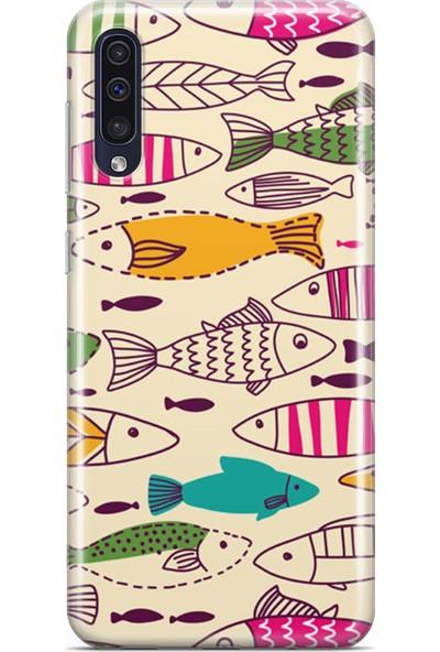 Melefoni Samsung Galaxy A50 Fishie Serisi Ariana Desenli Kılıf