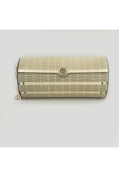 TrendBox Kişiye Özel İsim Yazılı Ahşap Bayan Çantası Model V14