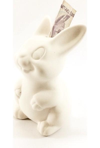 Joy And Toys Seramik Biblo Boyama Seti - Tavşan Kumbara - 15 Cm