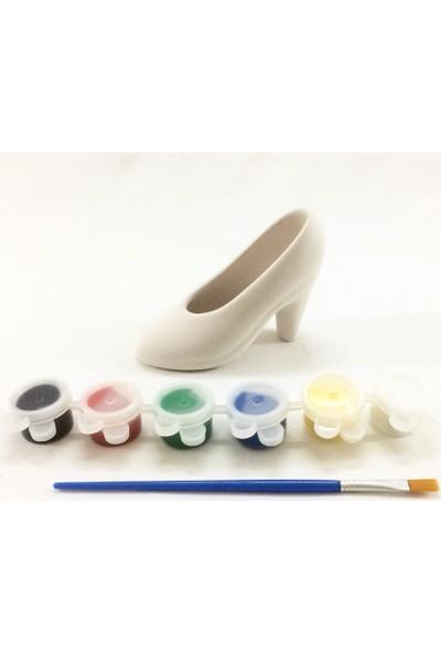 Joy And Toys Seramik Biblo Boyama Seti -Topuklu Ayakkabı- 8X12 Cm