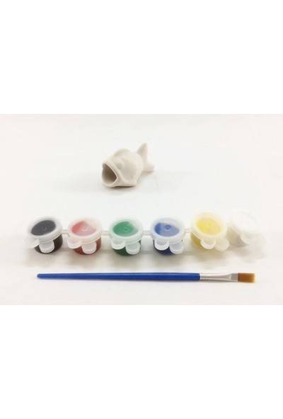 Joy And Toys Seramik Biblo Boyama Seti - Mini Balık - 7 X 4,5 Cm